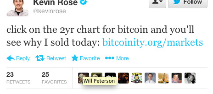 Kevin Rose Says He Sold His Bitcoins