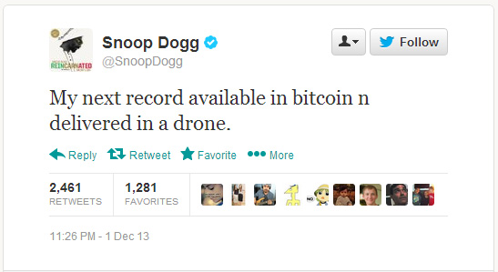Snoop Dogg Bitcoin Drone Tweet