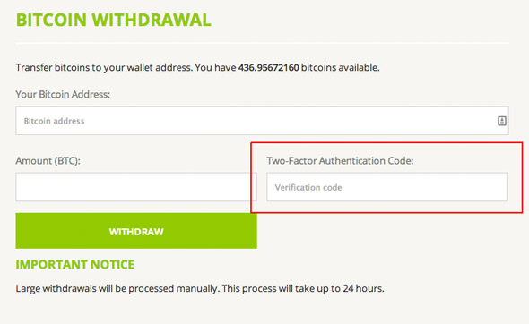 Bitstamp 2FA Withdrawal