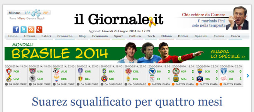 Major Italian Newspaper il Giornale Accepting Bitcoin For Digital Subscriptions