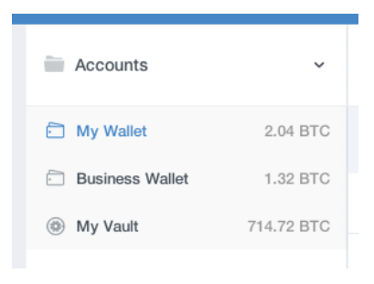 Account wallet types coinbase vault