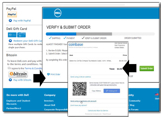 Dell Checkout Bitcoin