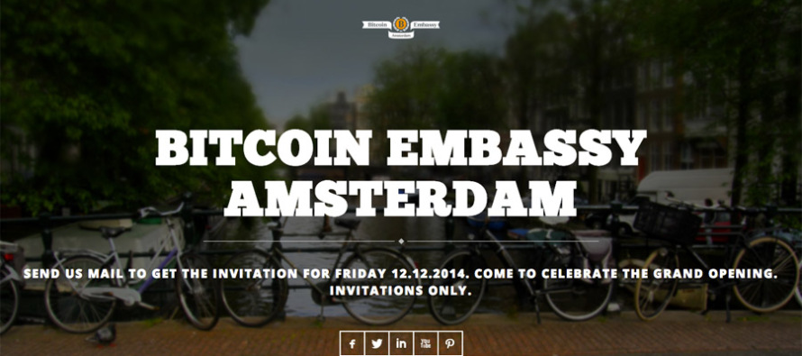 Bitcoin Embassy Amsterdam Slated to Open in Early December