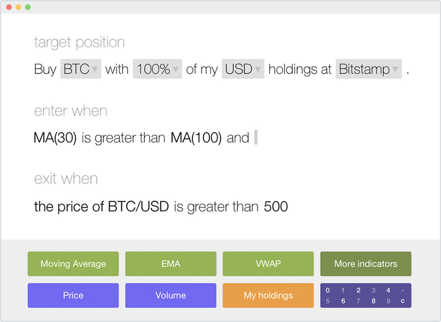 Scribe Automated Bitcoin Trading Interface