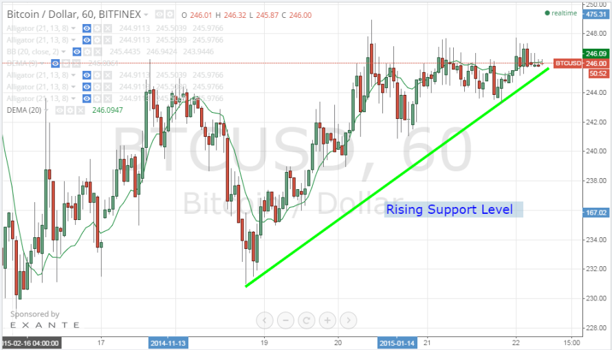 Bitcoin Price Technical Analysis for 22/2/2015 – Slowing Down