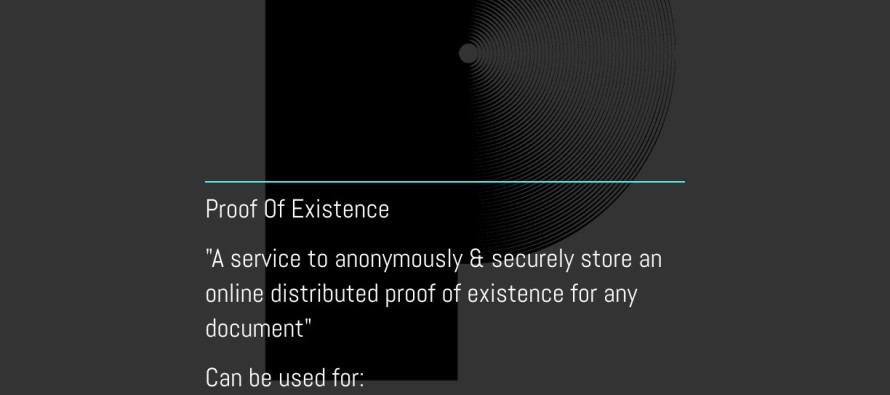 Anonymous Proof Of Existence – Next Generation Bitcoin Technology