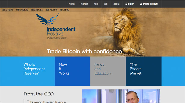 Independent Reserve Homepage